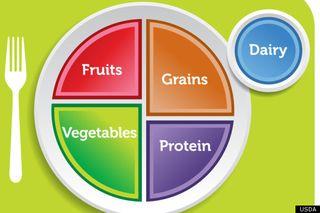 Food pyramid plate